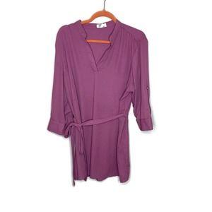 Ali & Kris women's mauve pink tunic blouse 2x xxl